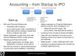 accounting from startup to ipo