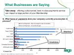 what businesses are saying1
