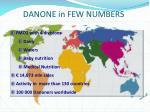danone in few numbers