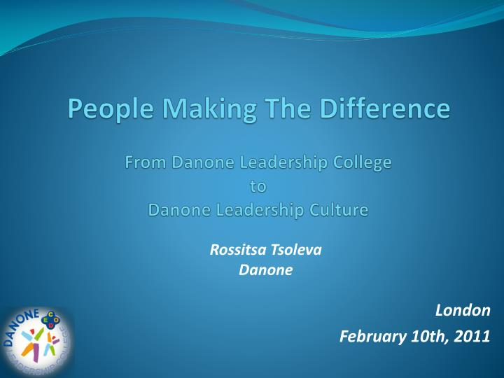 people making the difference n.