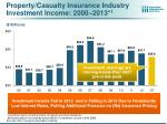 property casualty insurance industry investment income 2000 2013 1