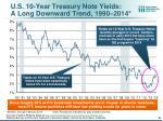 u s 10 year treasury note yields a long downward trend 1990 2014