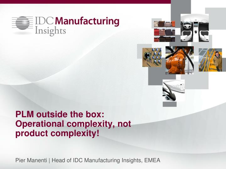 plm outside the box operational complexity not product complexity n.