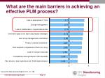 what are the main barriers in achieving an effective plm process