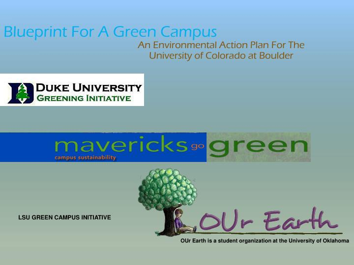 Blueprint For A Green Campus