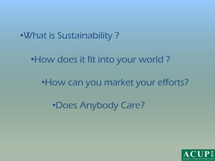 What is Sustainability ?