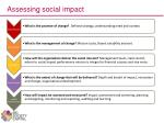 assessing social impact