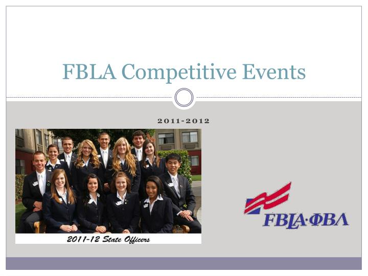 fbla competitive events n.