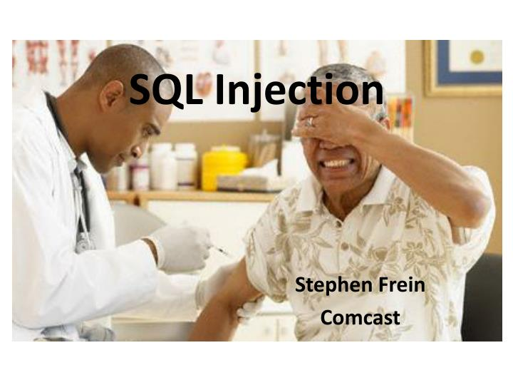 sql injection n.