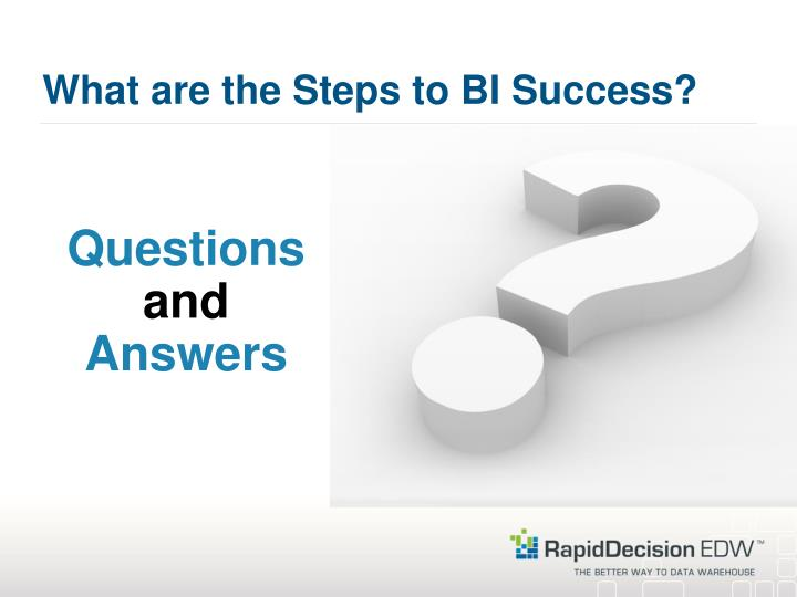 What are the Steps to BI Success?