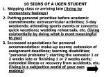 10 signs of a ugen student