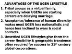 advantages of the ugen lifestyle