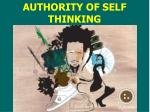 authority of self thinking
