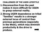 challenges of the ugen lifestyle