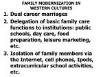 family modernization in western cultures
