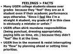 feelings facts