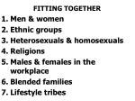 fitting together