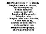 john lennon the ugen