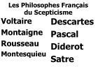 les philosophes fran ais du scepticisme