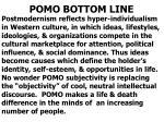 pomo bottom line