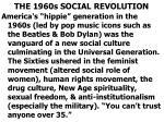 the 1960s social revolution