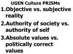 ugen culture prisms