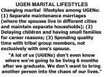 ugen marital lifestyles