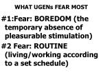 what ugens fear most