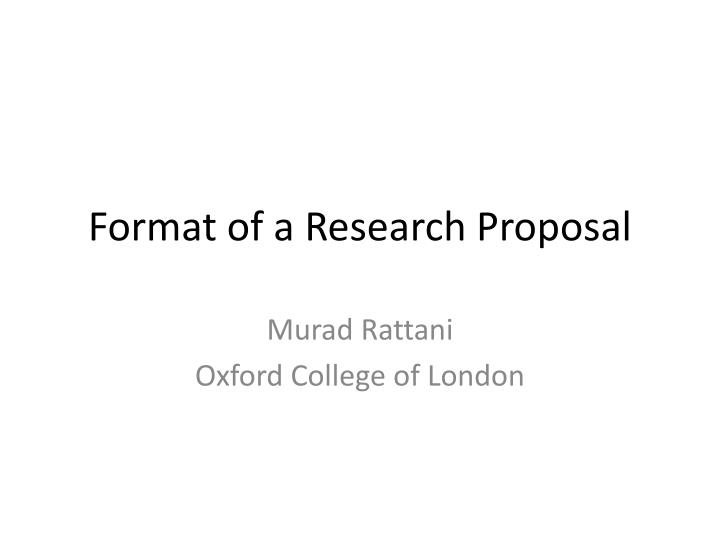 format of a research proposal n.