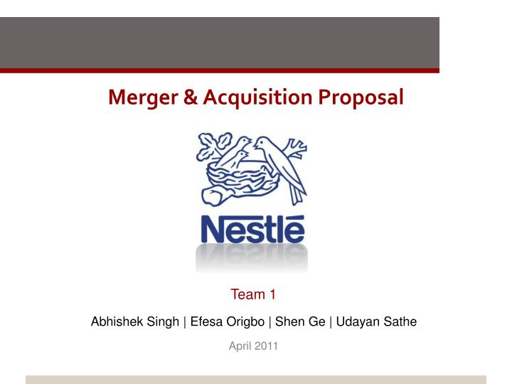 merger acquisition proposal n.