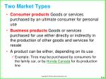 two market types