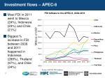 investment flows apec 8