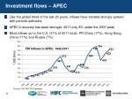 investment flows apec