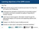 learning objectives of the gipb course1