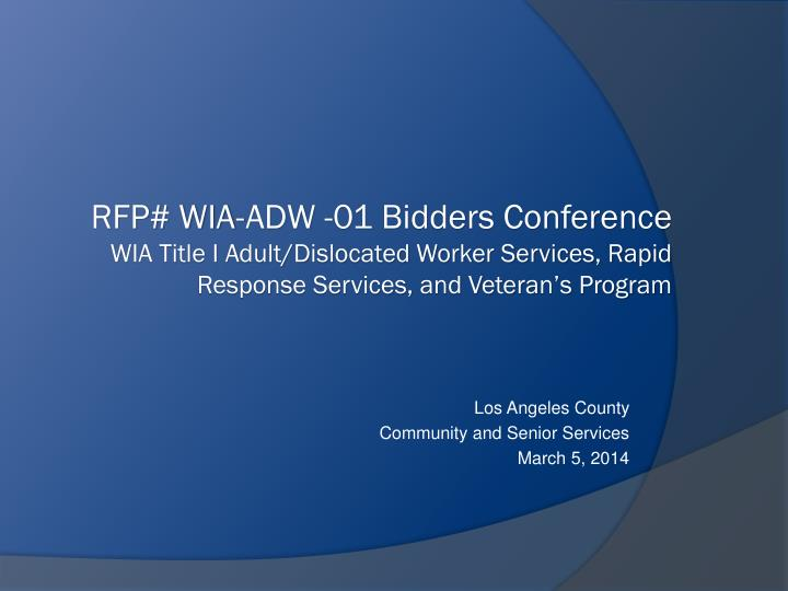 los angeles county community and senior services march 5 2014 n.