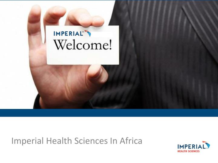 imperial health sciences in africa n.