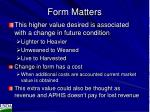 form matters1