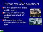 premise valuation adjustment