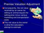 premise valuation adjustment1