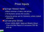price inputs