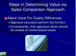 steps in determining value via sales comparison approach1