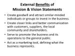 external benefits of mission vision statements