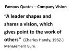 famous quotes company vision