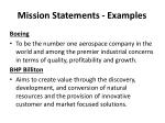 mission statements examples