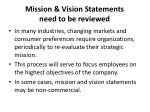 mission vision statements need to be reviewed