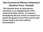 non commercial mission statements salvation army example