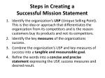 steps in creating a successful mission statement