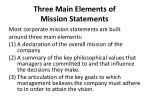 three main elements of mission statements