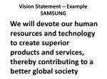 vision statement example samsung