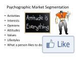 psychographic market segmentation